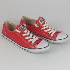 Red low top Converse All Star